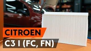 Hvordan udskiftes pollenfilter / kupefilter on CITROEN C3 1 (FC, FN) [GUIDE AUTODOC]