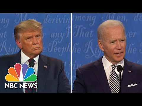 Trump, Biden Debate Amy Coney Barrett Supreme Court Nomination   NBC News