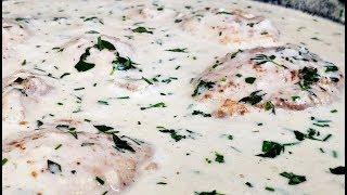 Creamy Garlic Herb Chicken Recipe   Garlic Herb Cream Sauce Recipe