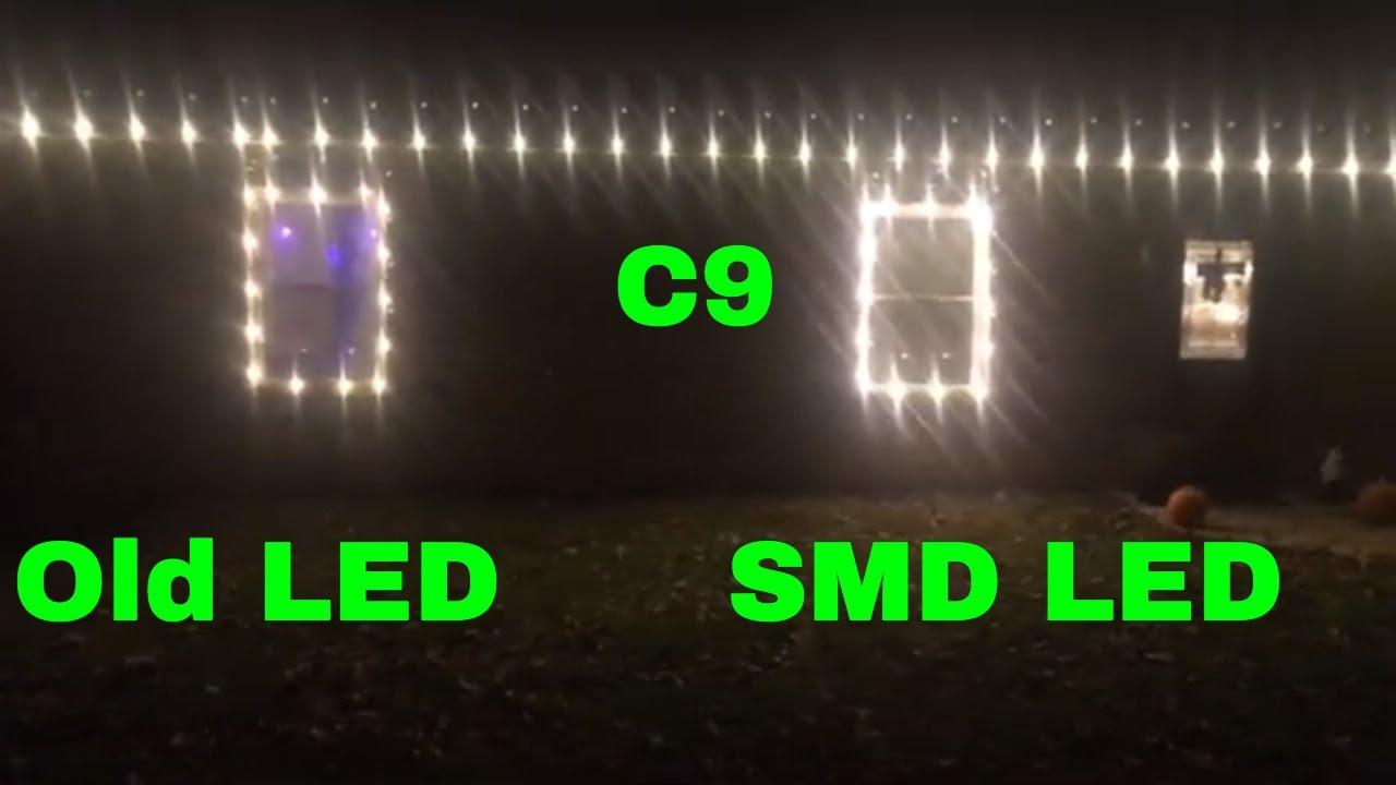 Smd Led Christmas Lights C9 Bulbs Vs Old Christmas Lights Led C9 Bulb