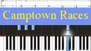 Learn Piano  | Camptown Races Free Sheet Music