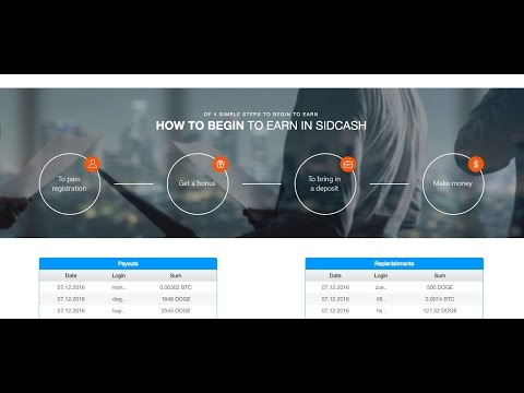 Bitcoin Cloud Mining With Sidcash 2016