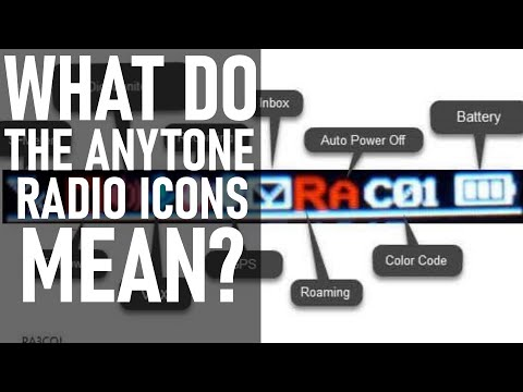 What do the AnyTone HT and Mobile Radio Icons Mean?