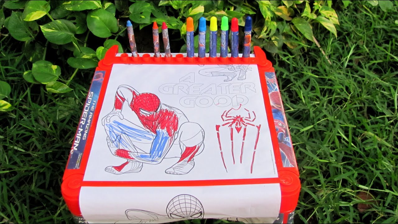Simba Toys | Spiderman Coloring Table Toy Review - YouTube
