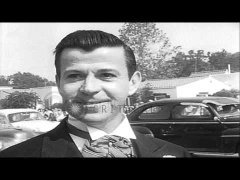 American actress Ann Blyth marries James McNulty. HD Stock Footage