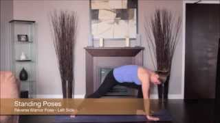 Yoga Reverse Warrior Pose Left