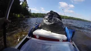Full gear on a canoe