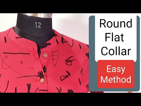 Perfect Round collar-Kurti collar neck cutting Simple & Easy Method -  well explained Hindi Tutorial