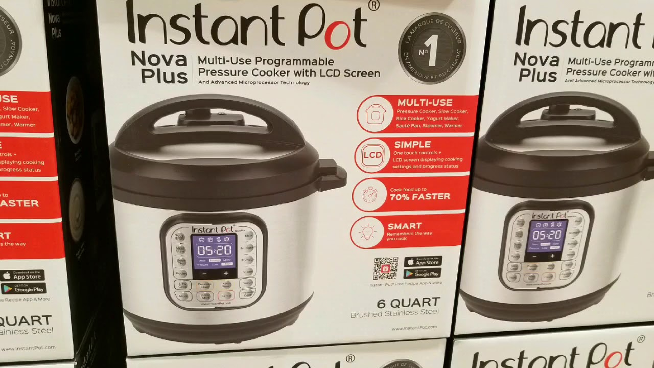 Costco! Instant Pot - Nova Plus 6 Quart - 9 in 1! $109!!!