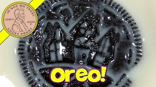 Halloween Oreo Orange Creme-filled Cookies & Silk Very Vanilla Soy Milk