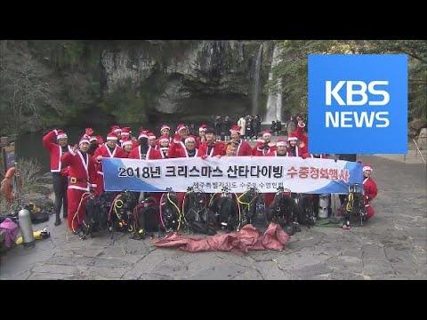 제주 청정 바다 정화 나선 산타 다이버들 / KBS뉴스(News)