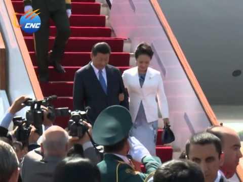 CHINESE PRESIDENT XI JINPING IN TAJIKISTAN