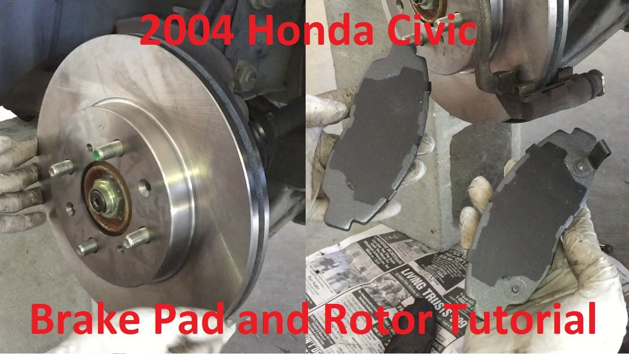 2004 honda civic brake pads replacement youtube. Black Bedroom Furniture Sets. Home Design Ideas