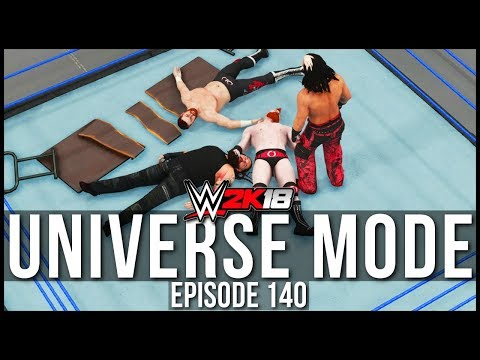 WWE 2K18 | Universe Mode - 'FATAL 4 WAY IRON-MAN TABLES MATCH!' | #140