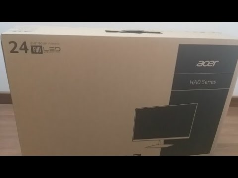 Unboxing Acer 23.8 inch Full HD IPS Panel Monitor (HA240Y)