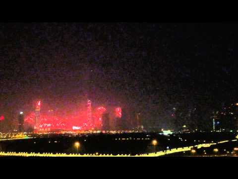 Dubai Fireworks in 2014! I saw this from Marriott hotel Al Jadaff.