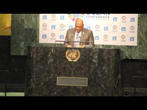 Guyana's Minister of Natural Resources, Mr Raphael Trotman at UN Oceans Conference, 5-9 June 2017