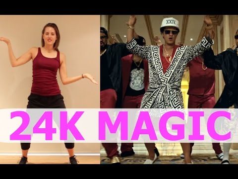 Bruno Mars '24K MAGIC' Dance Tutorial | Andrea...