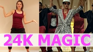 Bruno Mars '24K MAGIC' Dance Tutorial | Andrea Wilson