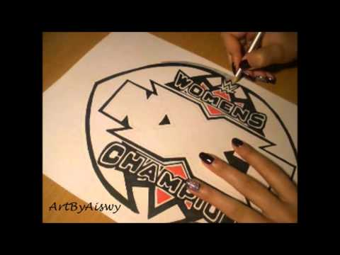 NXT Womens championship belt central plate drawing