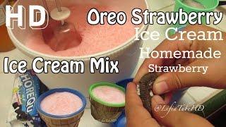 Cara Membuat Es Krim Sendiri ❤ Cheap Homemade Haan Ice Cream Mix Strawberry Oreo - LifiaTubeHD