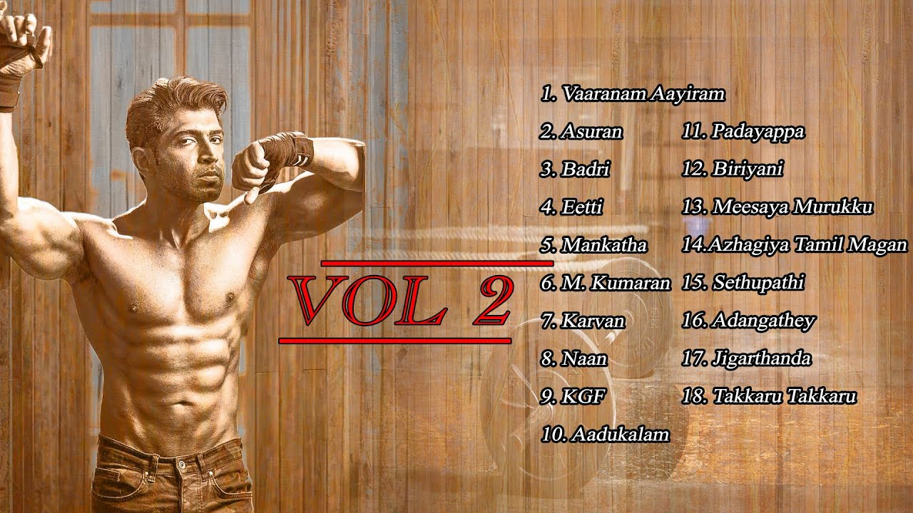 [VOL 2] Best Tamil Workout Motivational Songs | Tamil Gym Workout Songs 2020- jukebox
