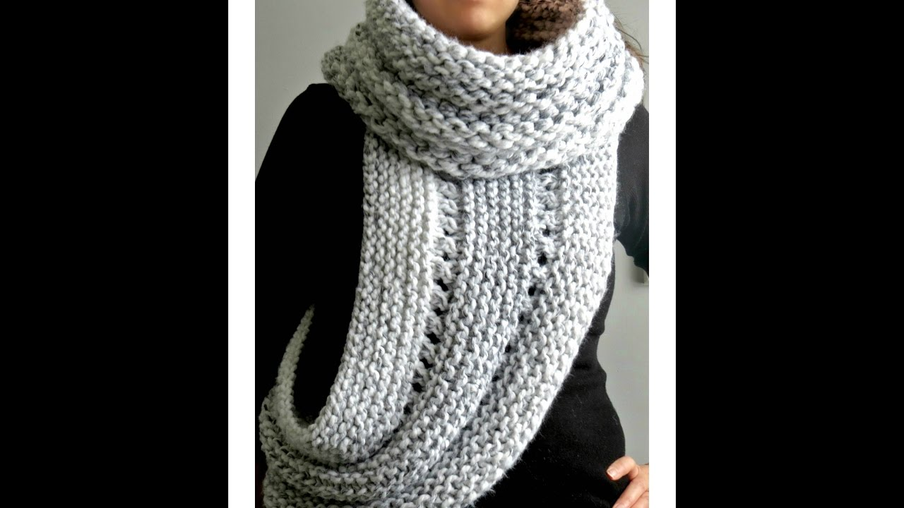 Katniss cowl, Knitted crossbody Cowl - YouTube