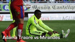 Adama Traoré vs. Mirandés   Individual Highlights   Barcelona B