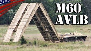 M60 AVLB 架橋戦車・橋梁展開 - M60 Armored Vehicle Launched Bridge (AVLB) Deploy Bridge