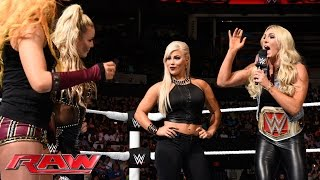 Becky Lynch and Natalya try to talk some sense into Dana Brooke: Raw, June 6, 2016
