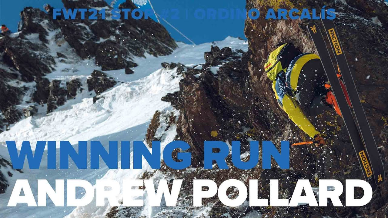 Freeride World Tour 2021. Ordino Arcalis (2) Winning Runs