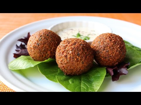 How to Make Falafel - Crispy Fried Garbanzo Bean/Chickpea Fritter Recipe