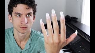Can I play Mozart with long nails?