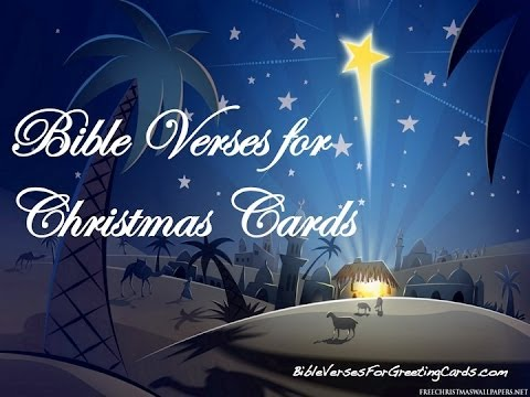 Amazing Bible Verses For Christmas Cards