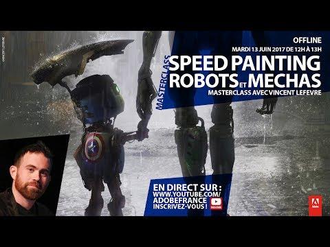Speed painting, robots et méchas | Masterclass par Vincent Lefevre