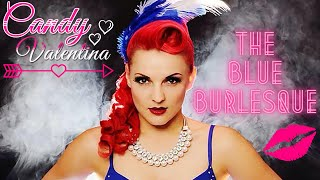 Miss Pin Up UK Grand Final 2014 - Candy Valentina Blue Burlesque - London Tattoo Convention
