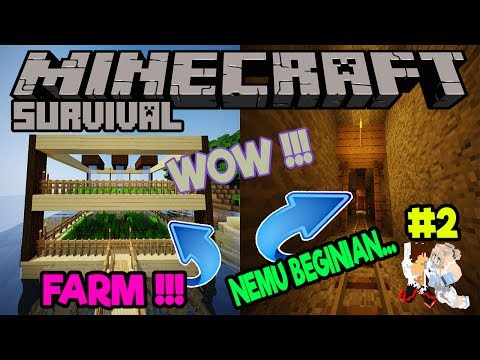 FARM 2 TINGKAT KITA - NICE !!! || Minecraft Survival Indonesia #2