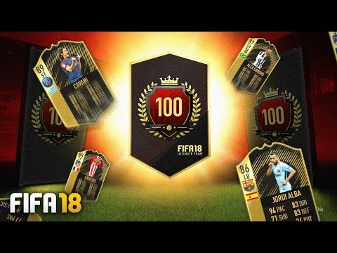TOP 100 ULTIMATE TOTW PACK!! - FIFA 18...