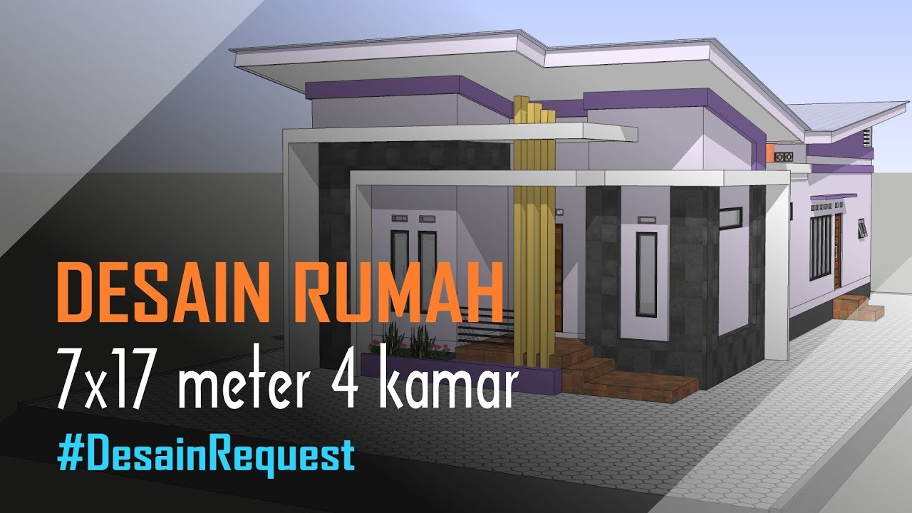 Desain Rumah Minimalis Modern 7x17 Meter 4 Kamar Mushola Youtube