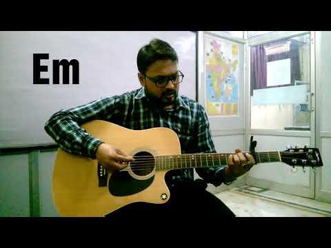 Simple guitar lesson on tonight i am loving you by Abhishek Srivastava