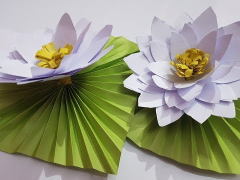 DIY paper water lily || How to make Water Lily with paper.
