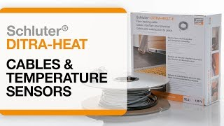 Schluter®-DITRA-HEAT: Cables and Temperature Sensor Installation