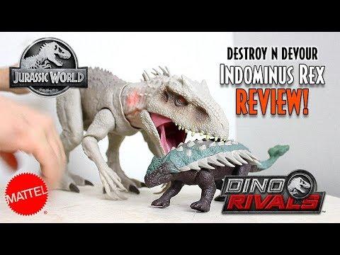 Mattel Jurassic World Destroy N Devour Indominus Rex Unboxing & Review!