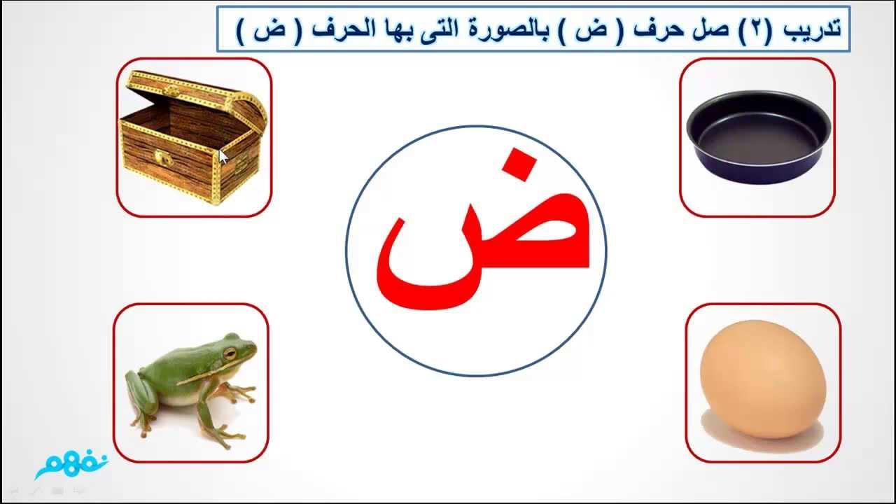 حرف الضاد لغة عربية للصف الأول الإبتدائي موقع نفهم Youtube