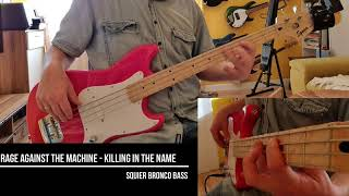 """Rage against the Machine - """"Killing in the Name"""" Shortscale Bass Cover"""