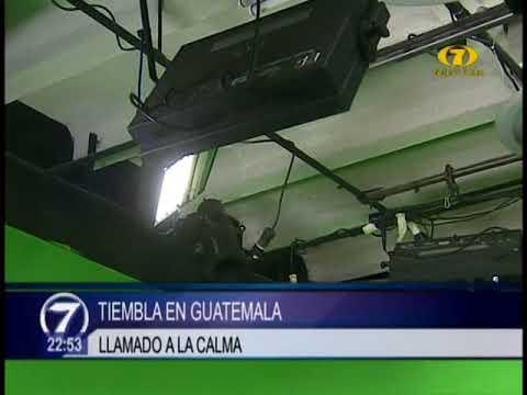 Se reporta temblor en distintas regiones de Guatemala