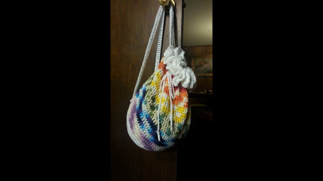 Crochet Drawstring Bag : CROCHET How To #Crochet a DrawString Backpack TUTORIAL #17 LEARN ...