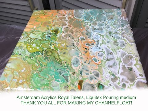 ( 065 ) Acrylic pouring thinner paint and dimethicone (request)