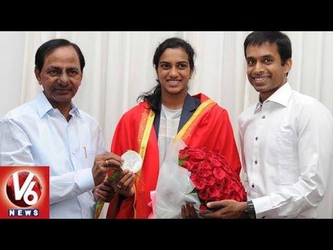 CM KCR Congratulates PV Sindhu And Pullela Gopichand    Hyderabad    V6 News