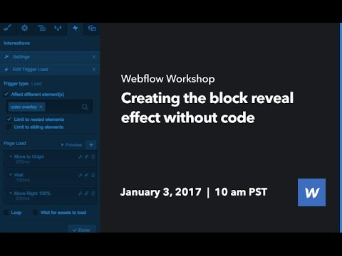 Webflow Workshop #66: Creating the block reveal effect without code